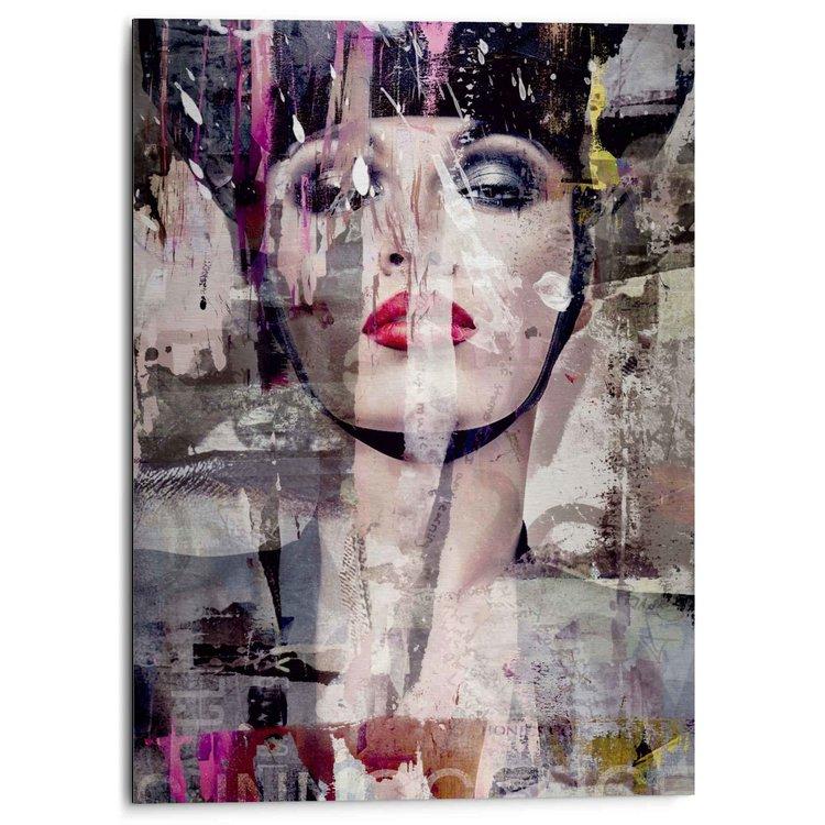 Powerful Woman Vrouw - Vrijheid - Kleurrijk - Modern - Krachtig  - Alu-Dibond Aluminium