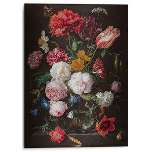 Alu-Dibond Stilleven met bloemen