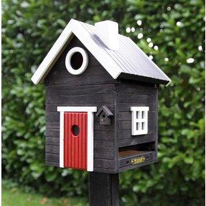 Wildlife Garden Multiholk Svart Hus Plus WG106 Nestkast & Voederhuisje