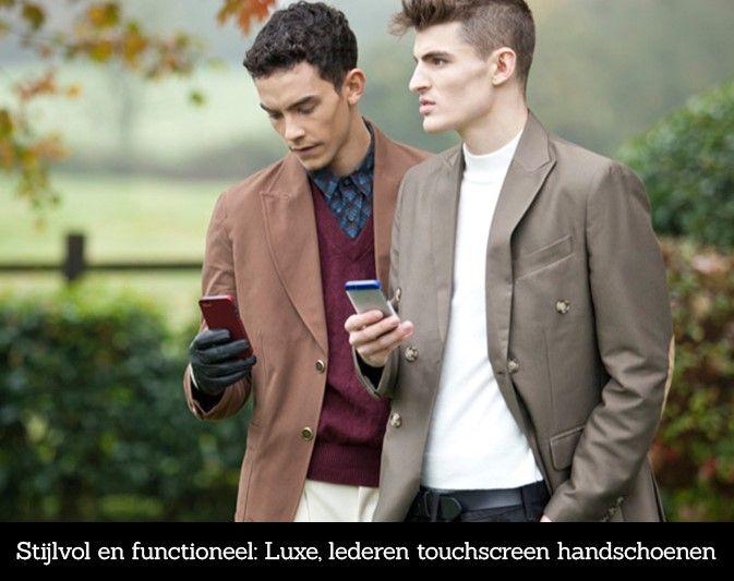 Stijlvol en functioneel: Uunique lederen touchscreen handschoenen