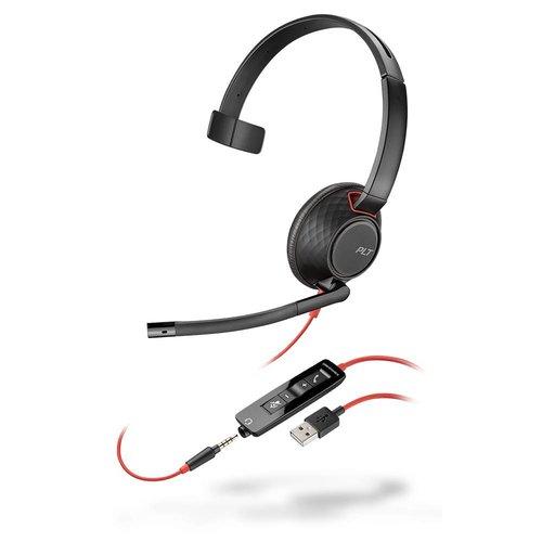 Plantronics Plantronics Blackwire 5210 Headset met USB-A en 3,5mm aansluiting (207577-01)