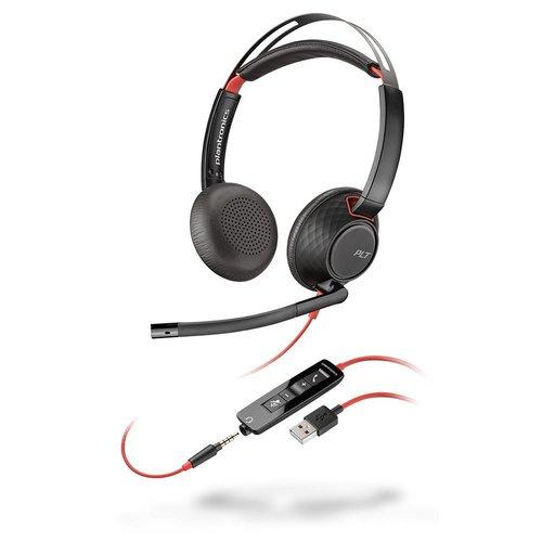 Plantronics Plantronics Blackwire C5220 Stereo Headset met USB-A en 3,5mm aansluiting