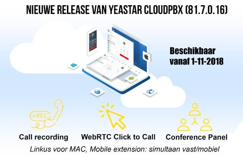Nieuwe release Yeastar cloudPBX
