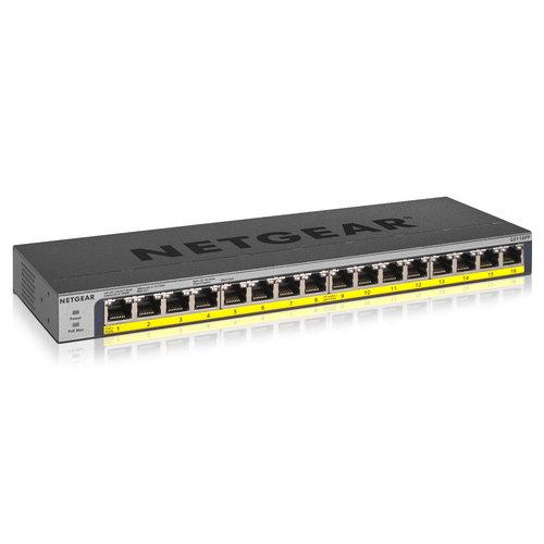 Netgear netwerk producten Netgear GS116PP 16pt PoE/PoE+ (GS116PP-100EUS)