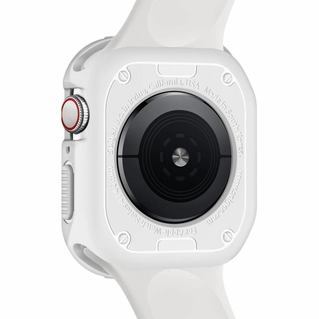 new style 9f7cb 28903 Spigen Rugged Armor™ Case Apple Watch 44 mm - Wit / White