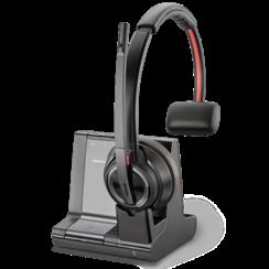 Plantronics Savi W8210 UC Draadloze headset voor Telefoon, PC en Smartphone