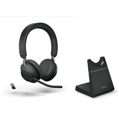 Jabra Evolve2 65 MS Stereo Bluetooth headset met bureaustandaard