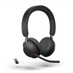 Jabra Evolve2 65 UC Stereo Bluetooth headset met bureaustandaard