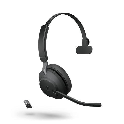 Jabra Jabra Evolve2 65, Link380a MS Mono Black geschikt voor Teams (26599-899-999)