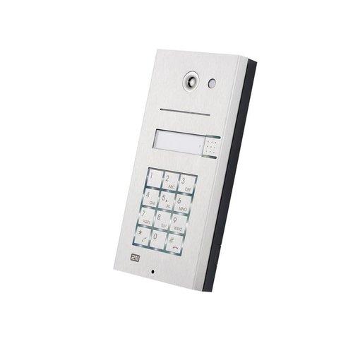 2N Helios 1 button + keypad analoge deurintercom 9135110KE