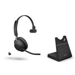 Jabra Evolve2 65, Link380c UC Mono Stand Black