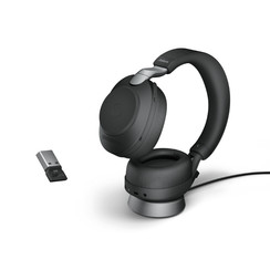 Jabra Evolve2 85, Link380a UC Stereo Stand Black