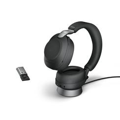 Jabra Evolve2 85, Link380a UC Stereo Stand Black
