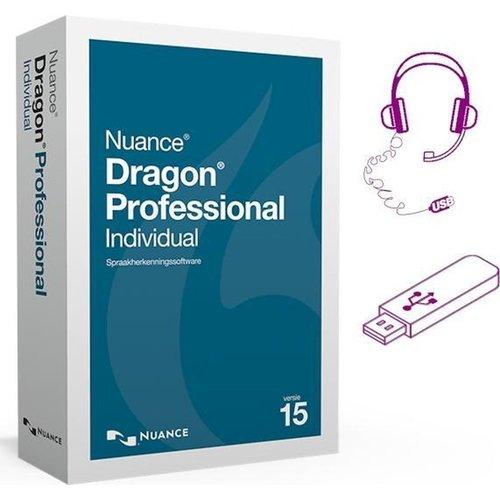 Nuance Dragon 15 Professional Individual - Nederlands+Engels