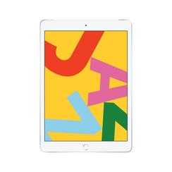 Refurbished Apple iPad (2019) 32GB Wifi + 4G-Silver-Zichtbaar gebruikt