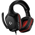 logitech Logitech G332 gaming headset voor pc, consoles en mobiele apparaten, zwart-rood