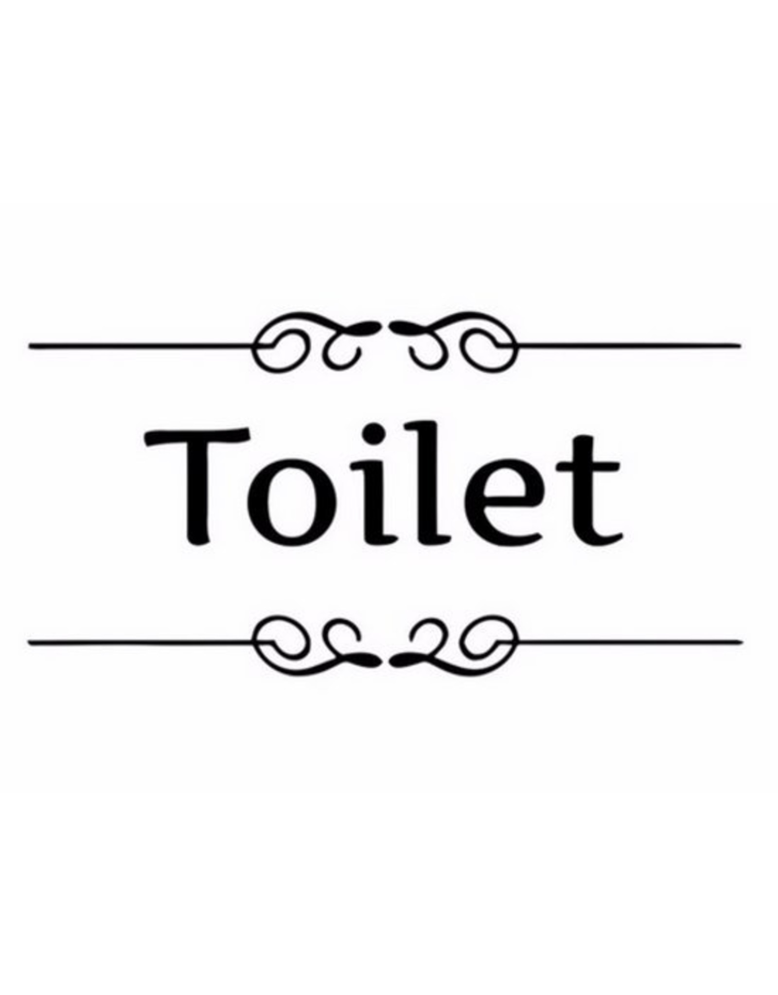 Deursticker Toilet - Body & Soap