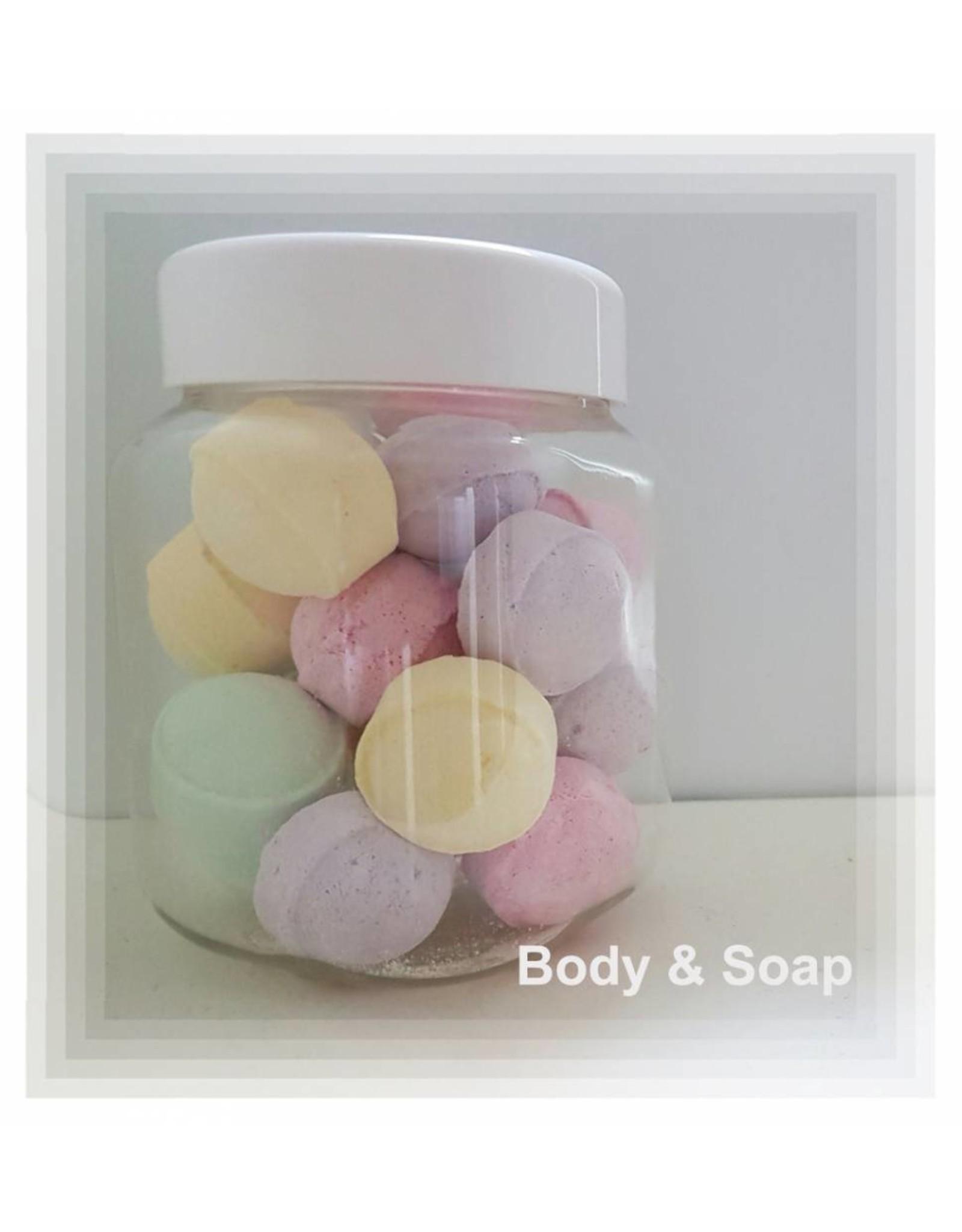 Pot met mini bad bruisers - Body & Soap
