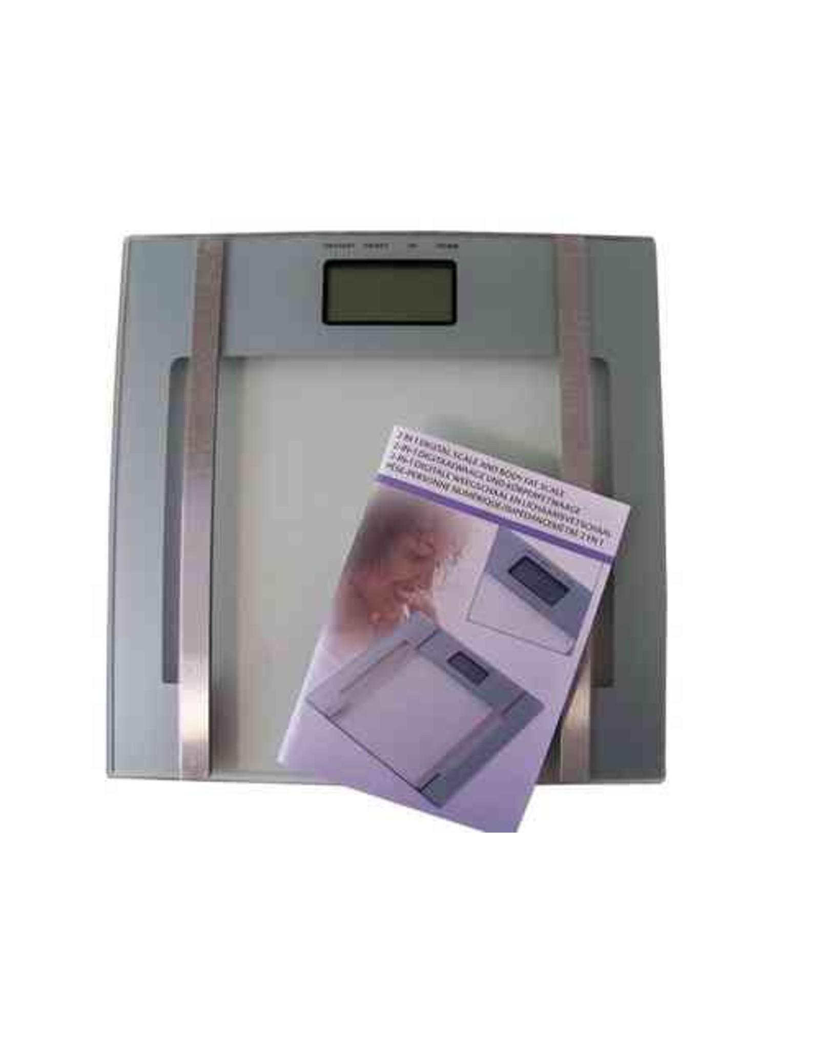 Digitale weegschaal en lichaamsvet schaal 2 in 1 - Body & Soap