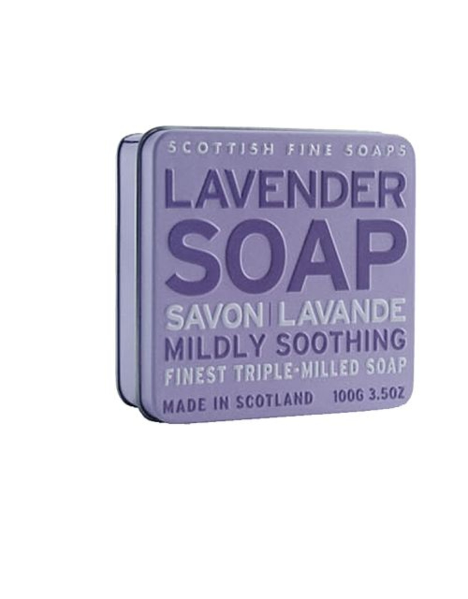 Blik met lavendel zeep - Body & Soap