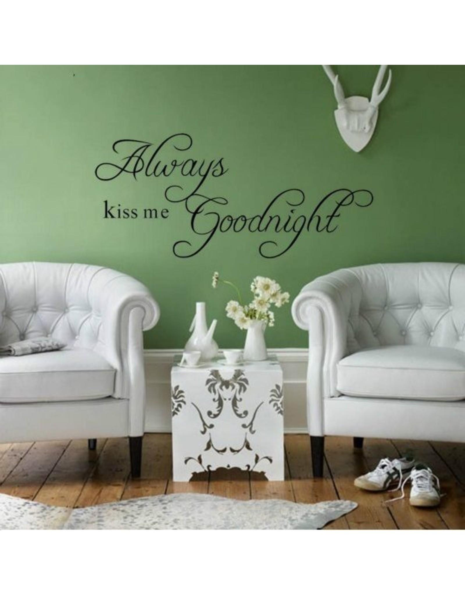 Muursticker 'Kiss me Goodnight' - Body & Soap