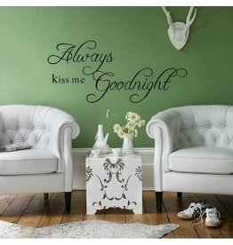 Muursticker 'Kiss me Goodnight'