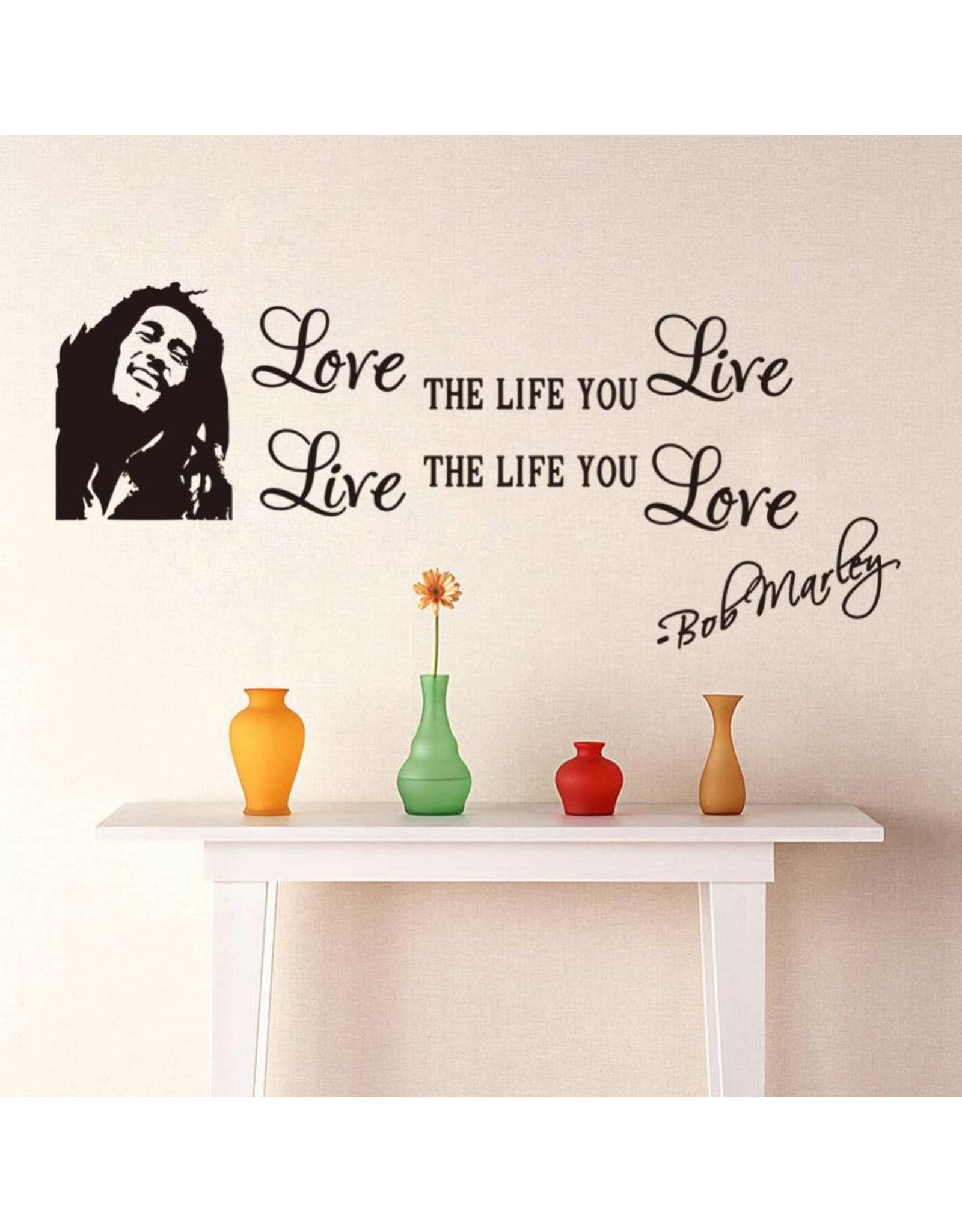 Muurstickers 'Bob Marley' - Body & Soap