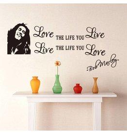 Muurstickers 'Bob Marley'