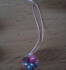 PVC bal met badparels (lila/roze)