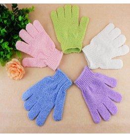 Scrub handschoen 'goud'