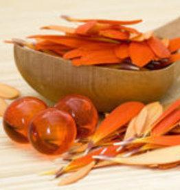 Badparels oranje transparant