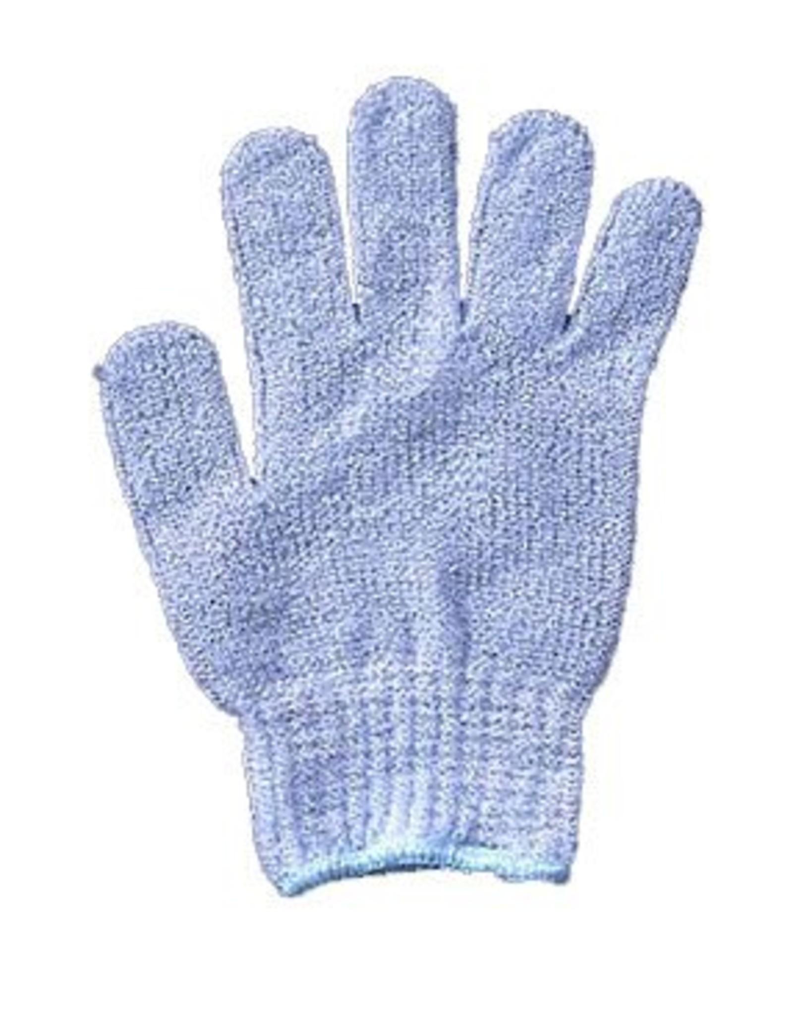 Scrub handschoen 'blauw' - Body & Soap