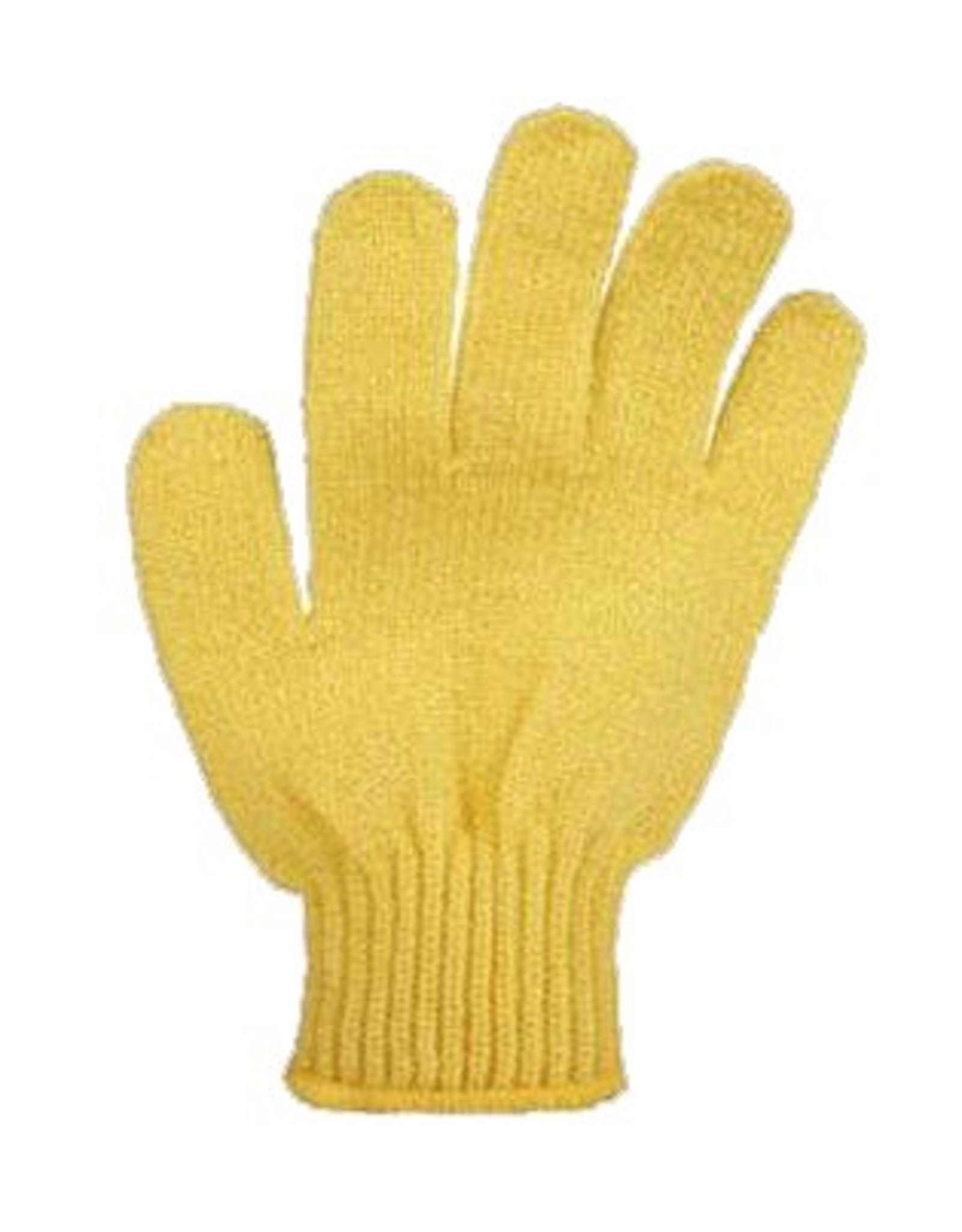 Scrub handschoen 'geel' - Body & Soap