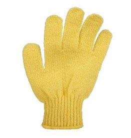 Scrub handschoen 'geel'