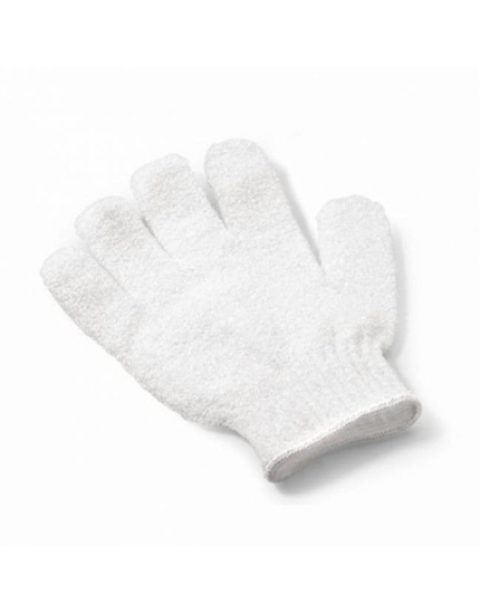 Scrub handschoen 'wit' - Body & Soap