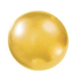 Badparel (geel) metallic