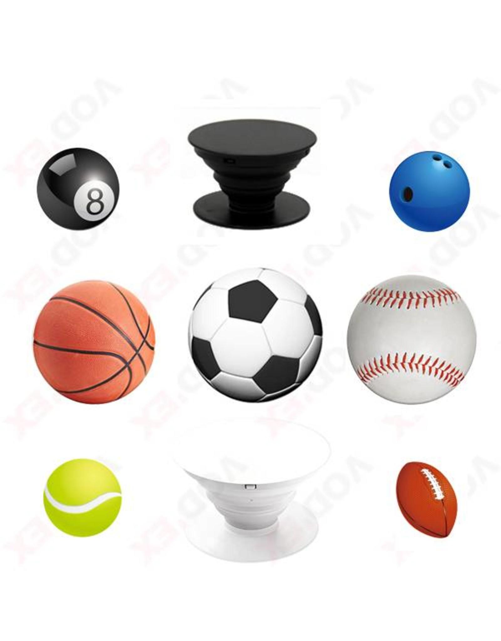 Telefoonbutton 'Voetbal wit' - Body & Soap