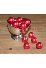 Badparel (rood) metallic - Body & Soap
