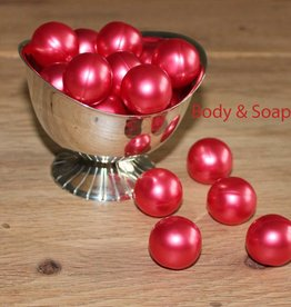 Badparels rood metallic (kers)