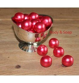 Badparel (rood) metallic