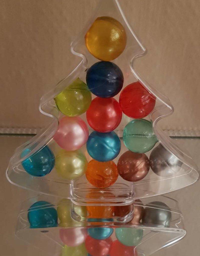 Kerstboom met 13 badparels (assorti)