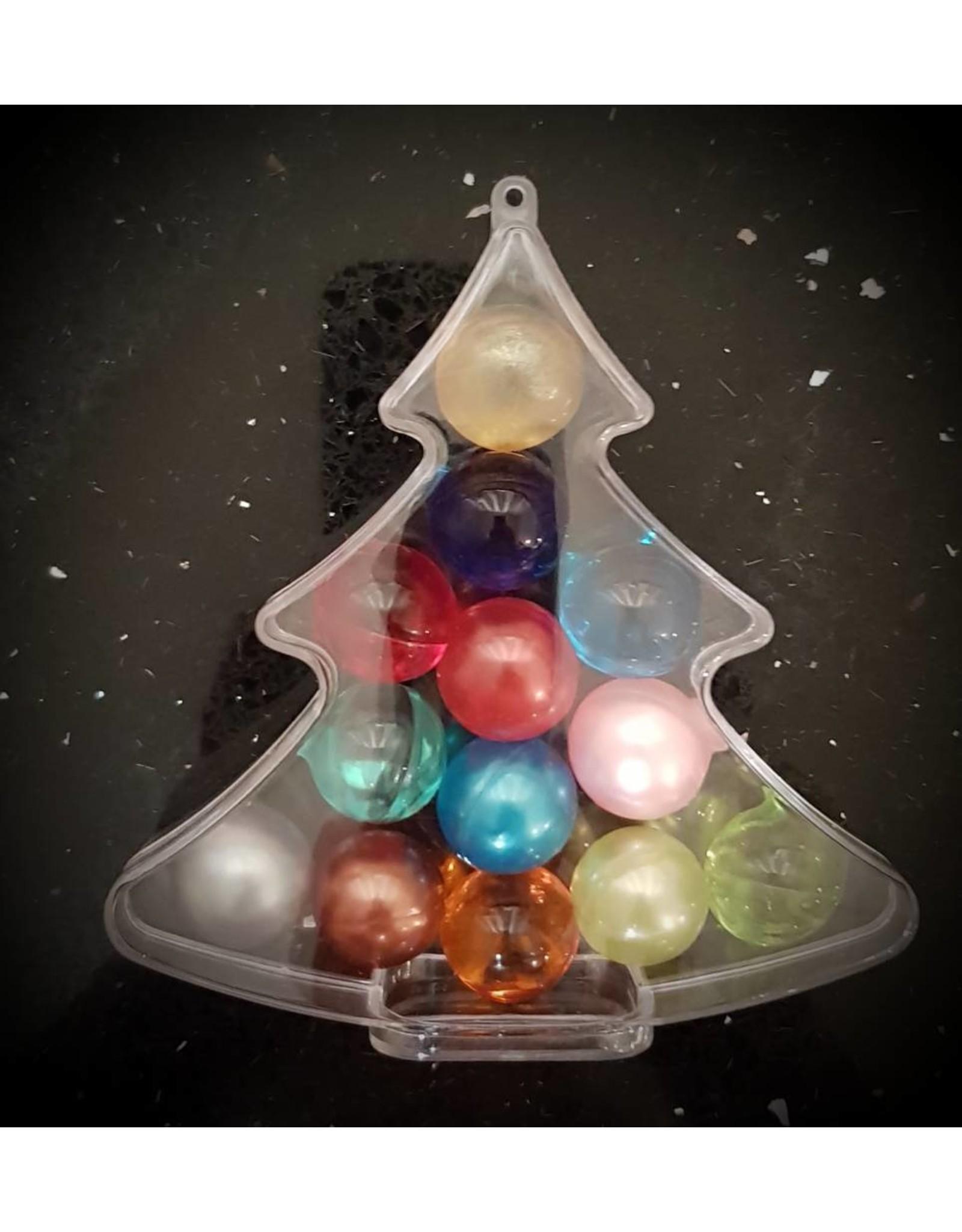 Kerstboom met 13 badparels (assorti) - Body & Soap