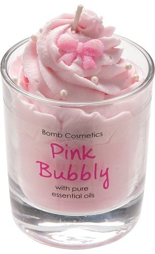 Bomb Cosmetics Pink Bubbly Whipped Piped Candle - Geurkaars