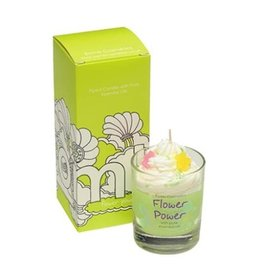 Bomb Cosmetics Geurkaars 'Flower Power Whipped Piped Candle'