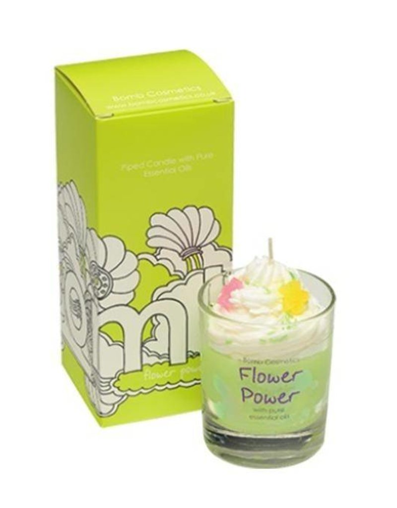 Bomb Cosmetics Geurkaars 'Flower Power Whipped Piped Candle' - Body & Soap