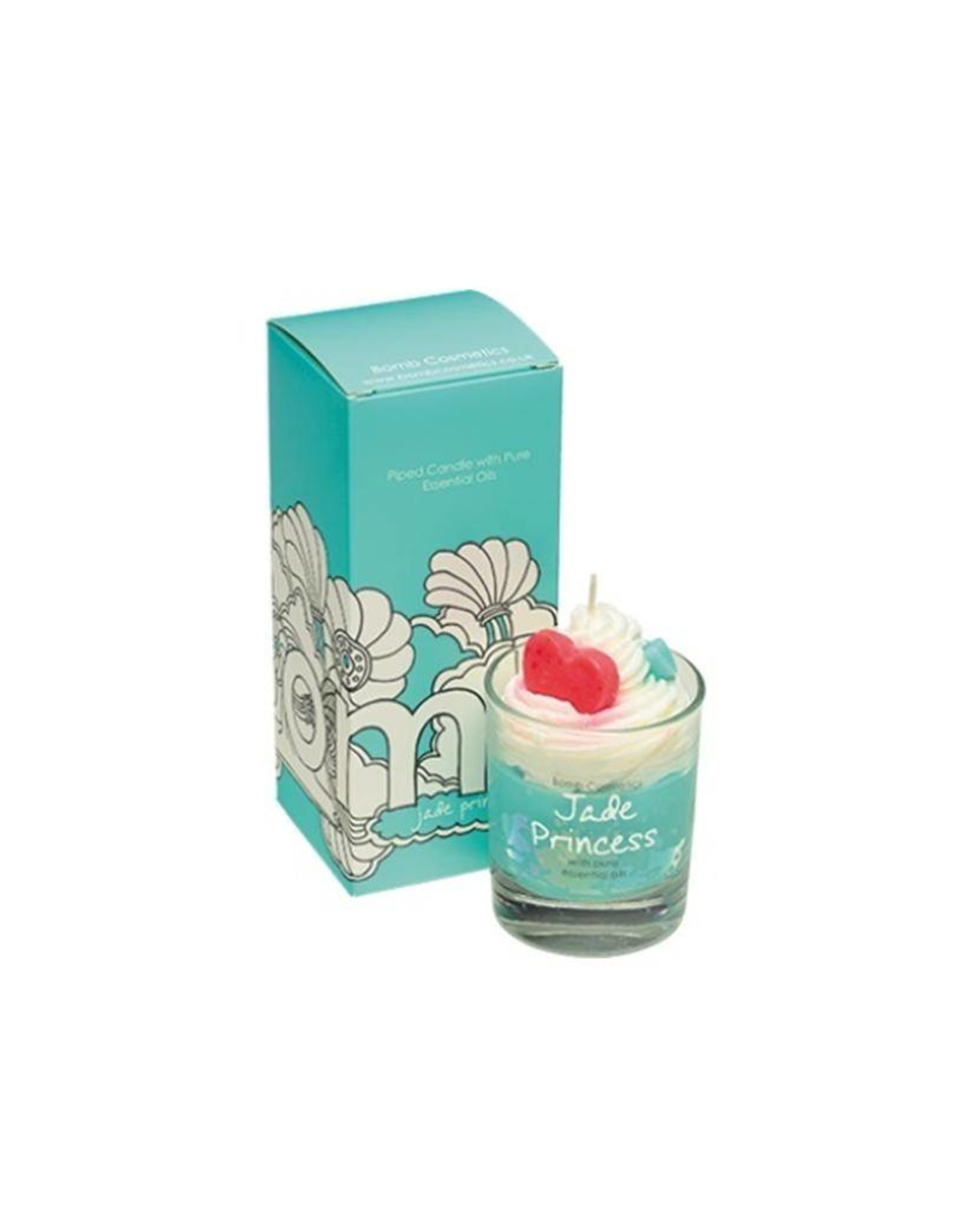 Bomb Cosmetics Jade Princess Whipped Piped Candle - Body & Soap