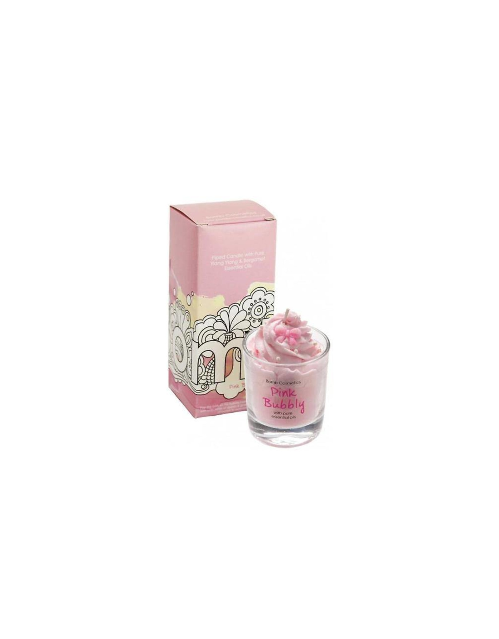 Bomb Cosmetics Geurkaars 'Pink Bubbly Whipped Piped Candle' - Body & Soap