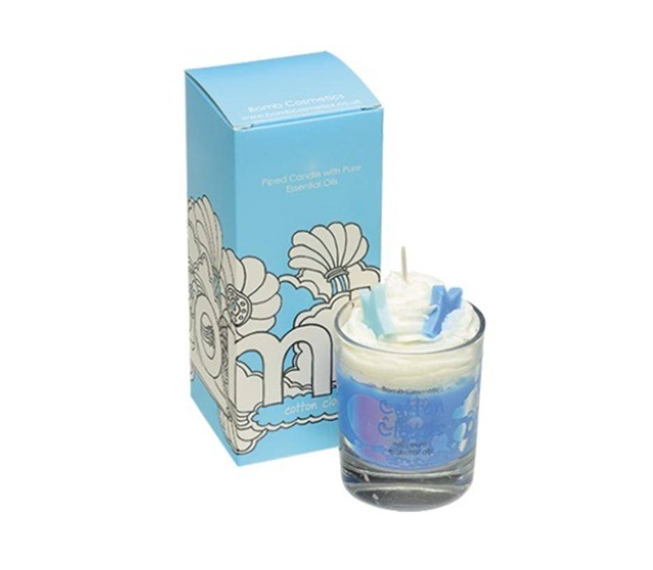 Bomb Cosmetics Cotton Clouds Whipped Piped Candle - geurkaars