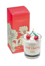 Bomb Cosmetics Geurkaars 'Wild Cherry Whipped Piped Candle' - Body & Soap
