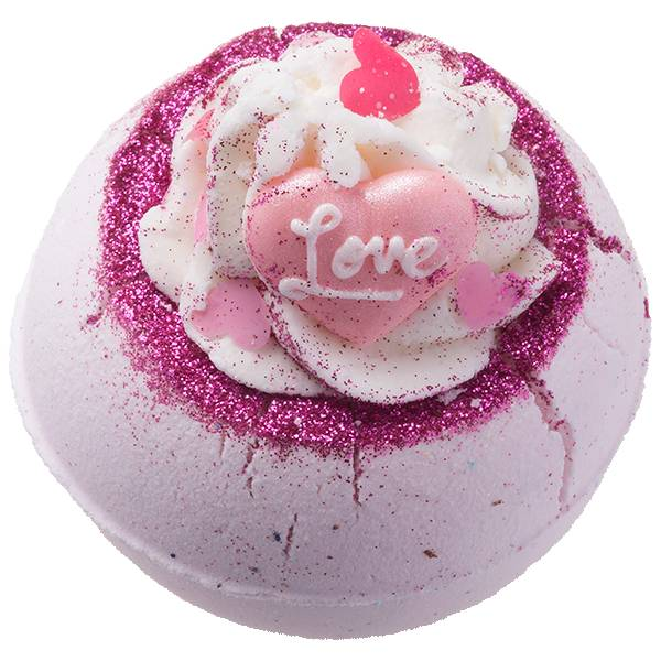 Bomb Cosmetics Fell In Love With A Swirl Bath Blaster - luxe badbruiser